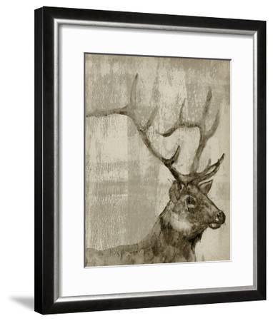 Sepia Elk-Jennifer Goldberger-Framed Art Print