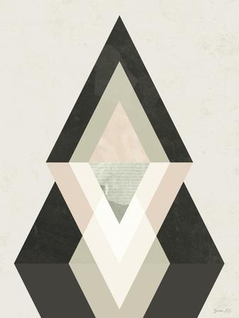 Mountains Beyond Mountains II-Green Lili-Framed Art Print