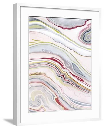 Watercolor Marbling II-Grace Popp-Framed Art Print