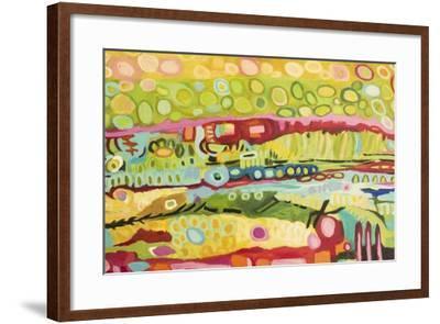 Abstract Bohemian-Karen  Fields-Framed Art Print