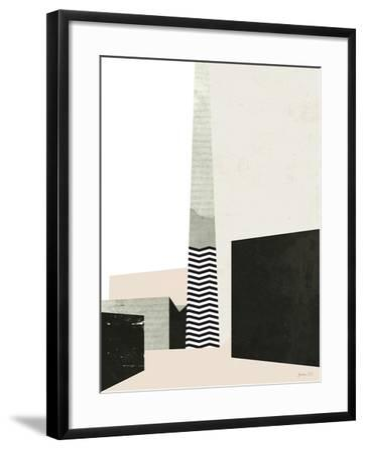 Edge of Town I-Green Lili-Framed Art Print