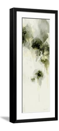 Misty Abstract Morning I-Green Lili-Framed Art Print