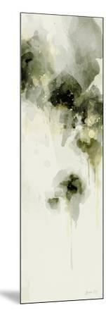 Misty Abstract Morning I-Green Lili-Mounted Art Print