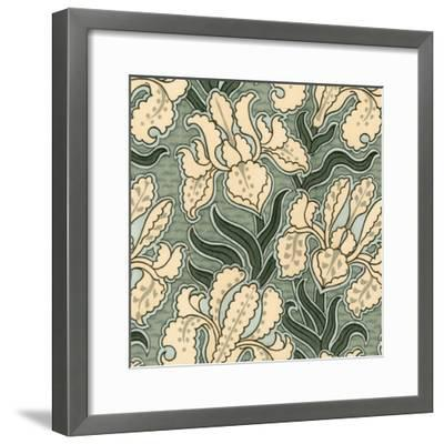 Nouveau Textile Motif II-Vision Studio-Framed Art Print