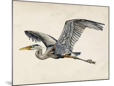 Blue Heron Rendering III-Melissa Wang-Mounted Art Print