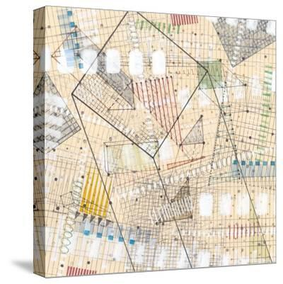 Grid Lines II-Nikki Galapon-Stretched Canvas Print