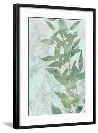 Watercolor Leaf Panel II-Jennifer Goldberger-Framed Art Print