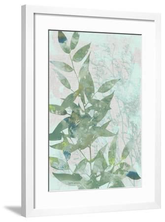 Watercolor Leaf Panel I-Jennifer Goldberger-Framed Art Print