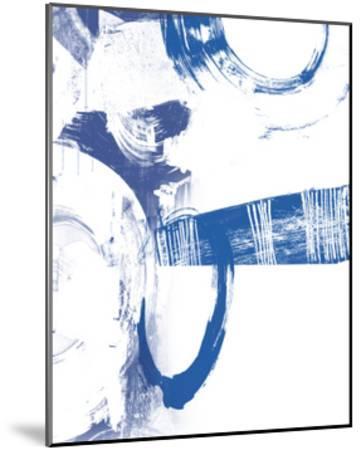 Blue Scribbles III-Vision Studio-Mounted Art Print