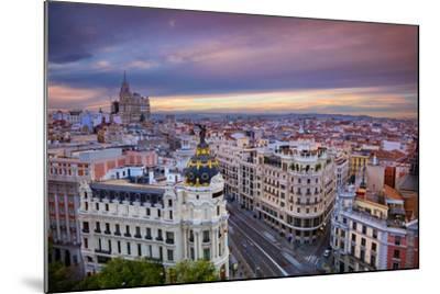 Madrid. Cityscape Image of Madrid, Spain during Sunset.-Rudy Balasko-Mounted Photographic Print