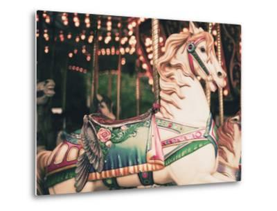 Vintage Carousel Horse-Andrekart Photography-Metal Print