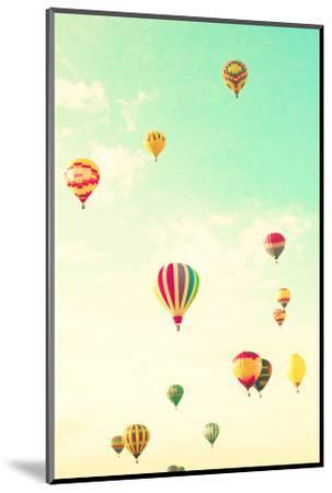 Colorful Hot Air Balloons in a Green Mint Summer Sky-Andrekart Photography-Mounted Photographic Print