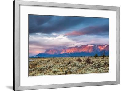 View of Grand Teton Mountain Range at Sunrise.-Victor Maschek-Framed Photographic Print