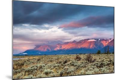 View of Grand Teton Mountain Range at Sunrise.-Victor Maschek-Mounted Photographic Print