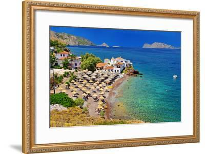 Pictorial Beaches of Greece - Hydra Island- leoks-Framed Photographic Print
