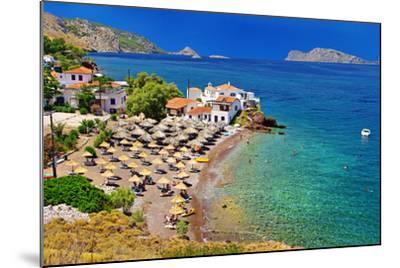 Pictorial Beaches of Greece - Hydra Island- leoks-Mounted Photographic Print