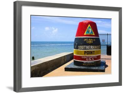 Southernmost Point in Continental USA in Key West,Florida-nito-Framed Photographic Print