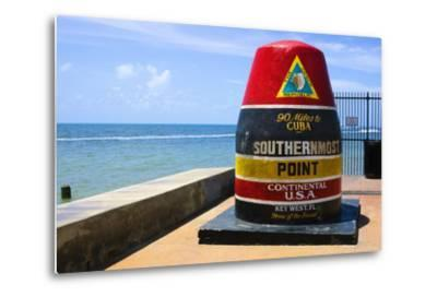Southernmost Point in Continental USA in Key West,Florida-nito-Metal Print