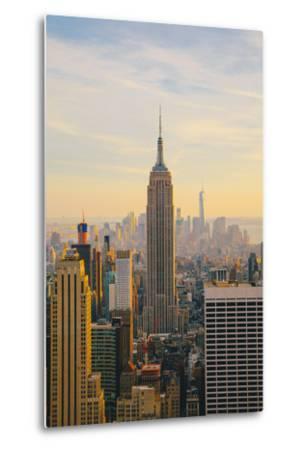 New York City Skyline with Urban Skyscrapers at Sunset-Irina Kosareva-Metal Print
