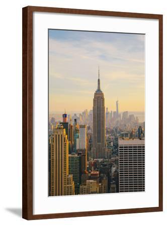 New York City Skyline with Urban Skyscrapers at Sunset-Irina Kosareva-Framed Photographic Print