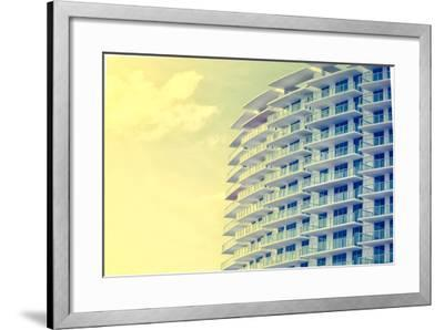 Picture of Buildings and Architecture Details in Miami Beach, Florida-Wilson Araujo-Framed Photographic Print