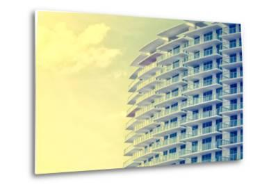 Picture of Buildings and Architecture Details in Miami Beach, Florida-Wilson Araujo-Metal Print