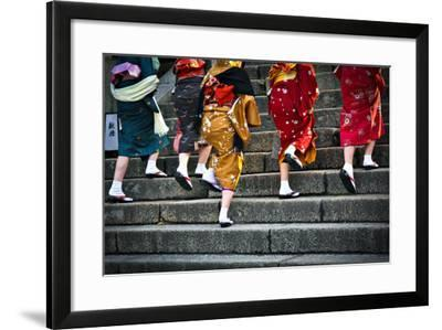 Japanese Ladies in Traditional Dress-Neale Cousland-Framed Photographic Print