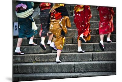 Japanese Ladies in Traditional Dress-Neale Cousland-Mounted Photographic Print