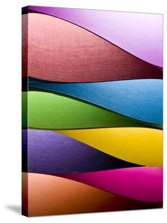 Colored Paper Background Stacked in Wedges-Steve Collender-Stretched Canvas Print