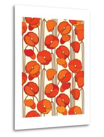 Poppies. Seamless Background.- isveta-Metal Print