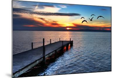 Gulls Fly over the Sea-kesipun-Mounted Photographic Print