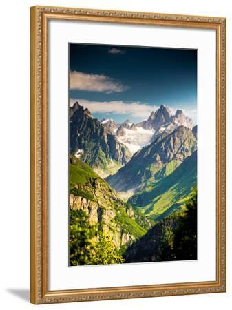 Beautiful Walley in Caucasus Mountains in Upper Svaneti, Georgia-My Good Images-Framed Photographic Print