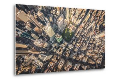 Aerial photograph taken from a helicopter in New York City, New York, USA-Stephane Legrand-Metal Print