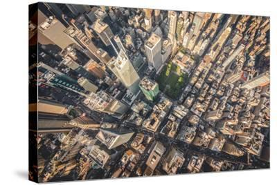 Aerial photograph taken from a helicopter in New York City, New York, USA-Stephane Legrand-Stretched Canvas Print