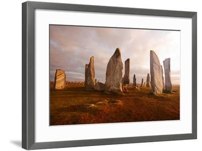 Callanish Standing Stones: Neolithic Stone Circle in Isle of Lewis, Scotland-unknown1861-Framed Photographic Print