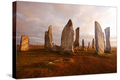Callanish Standing Stones: Neolithic Stone Circle in Isle of Lewis, Scotland-unknown1861-Stretched Canvas Print