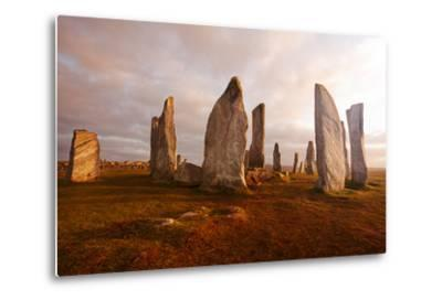Callanish Standing Stones: Neolithic Stone Circle in Isle of Lewis, Scotland-unknown1861-Metal Print