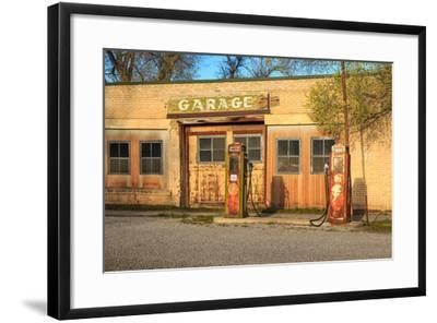 Old Service Station in Rural Utah, Usa.-Johnny Adolphson-Framed Photographic Print