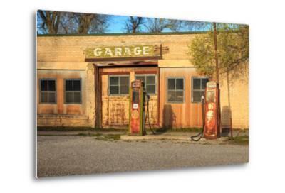 Old Service Station in Rural Utah, Usa.-Johnny Adolphson-Metal Print