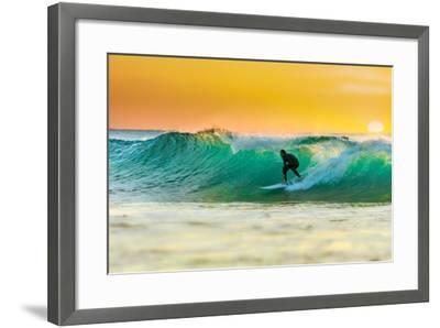 Sunrise Surfing-sw_photo-Framed Photographic Print