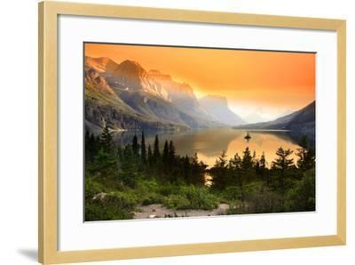 Wild Goose Island in Glacier National Park-SNEHIT-Framed Photographic Print