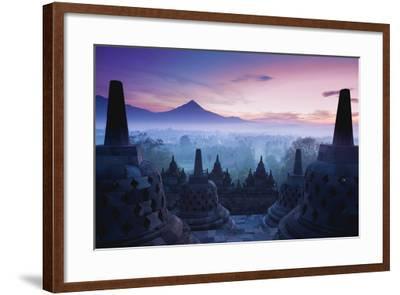 Borobudur Temple, Yogyakarta, Java, Indonesia.- pigprox-Framed Photographic Print