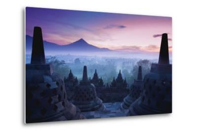 Borobudur Temple, Yogyakarta, Java, Indonesia.- pigprox-Metal Print