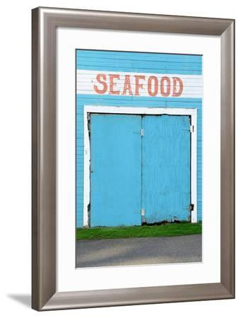 Bandon Oregon Fish Market near Old Town on the Coquille River- TFoxFoto-Framed Photographic Print