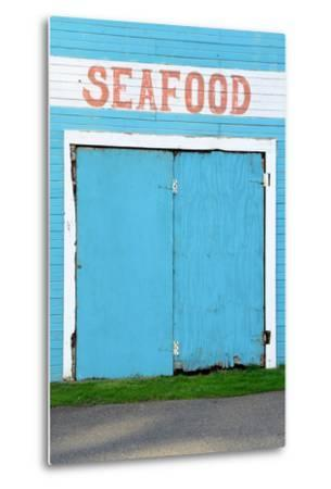 Bandon Oregon Fish Market near Old Town on the Coquille River- TFoxFoto-Metal Print