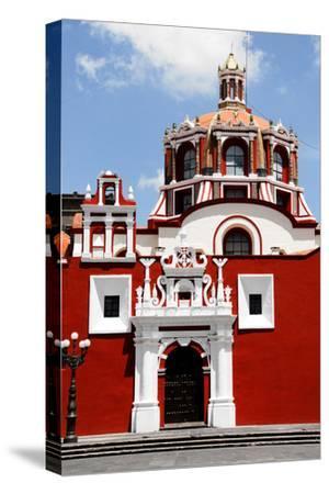 Santo Domingo Church, Puebla (Mexico)-Alberto Loyo-Stretched Canvas Print