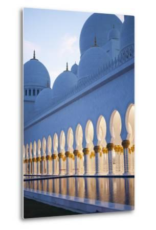 Arches of Grand Mosque of Abu Dhabi-Ahmad A Atwah-Metal Print
