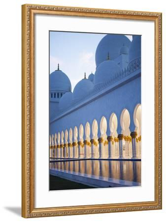 Arches of Grand Mosque of Abu Dhabi-Ahmad A Atwah-Framed Photographic Print