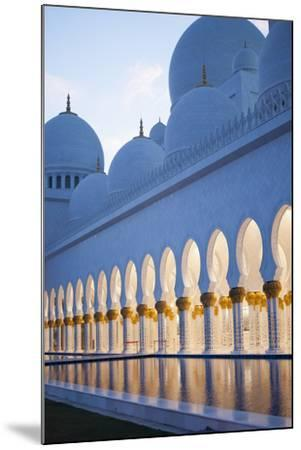 Arches of Grand Mosque of Abu Dhabi-Ahmad A Atwah-Mounted Photographic Print