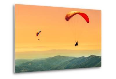Duo Paragliding Flight-Aurelien Laforet-Metal Print